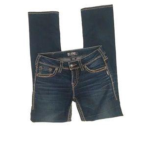 Silver Suki Mid Rise Straight Jeans